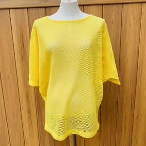 CATALINA Swim 1980's yellow net cover up